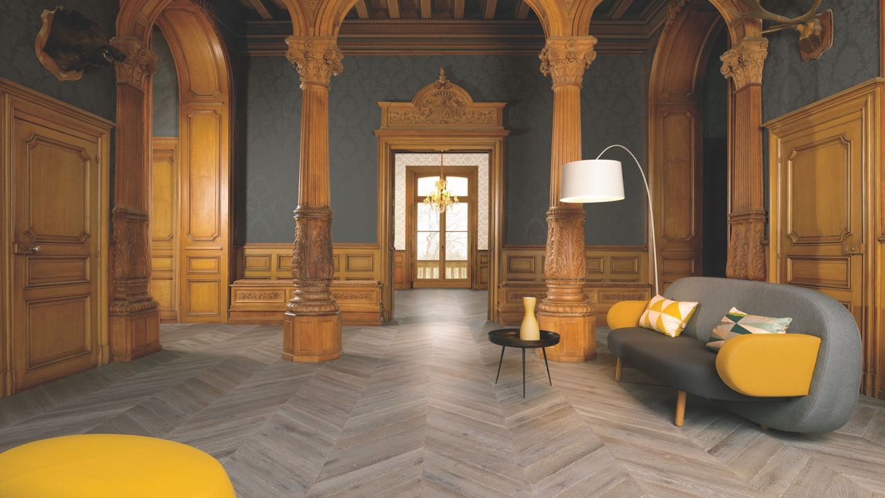 The Pattern Of The Moment Is Chevron Flooring